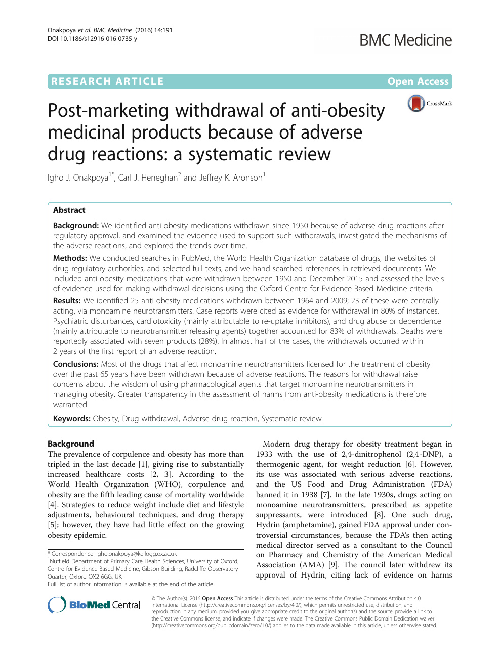 Post-marketing withdrawal of anti-obesity medicinal products