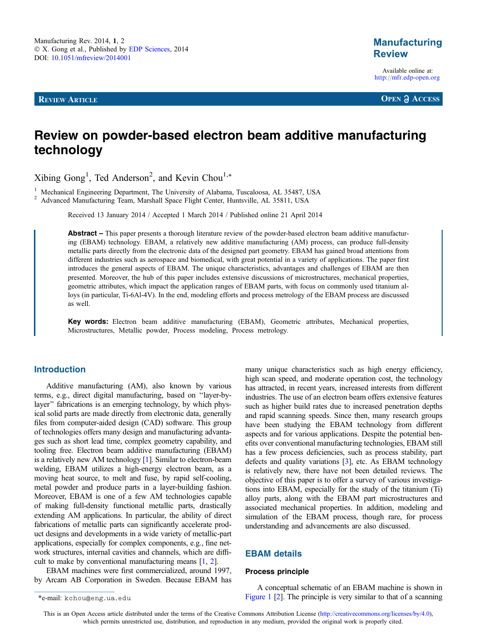 Review On Powder Based Electron Beam Additive Manufacturing