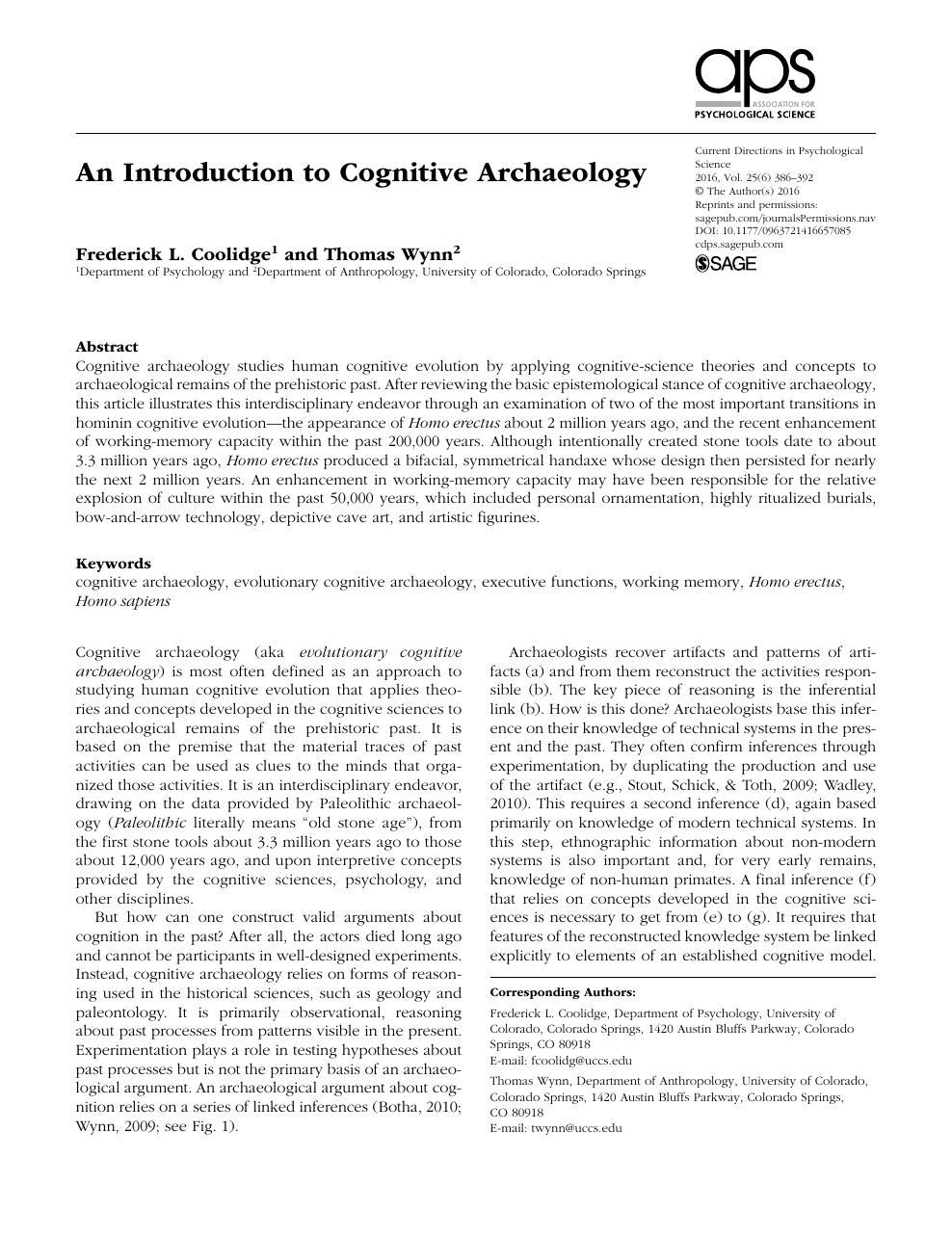 archaeology research paper