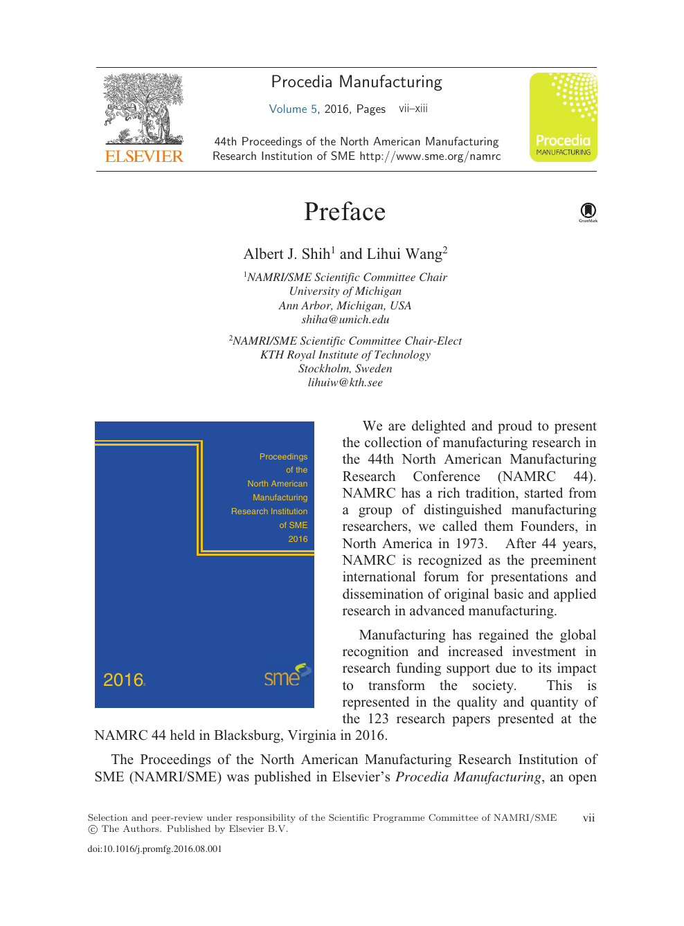Preface – topic of research paper in Materials engineering