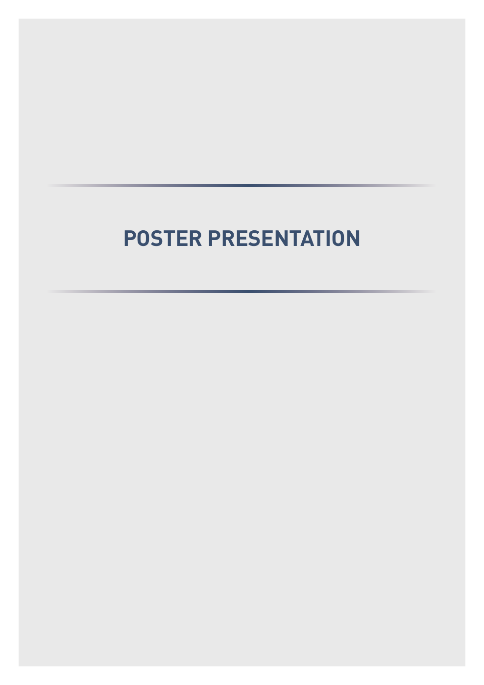 ABSTRACT Poster Presentation (1) – topic of research paper