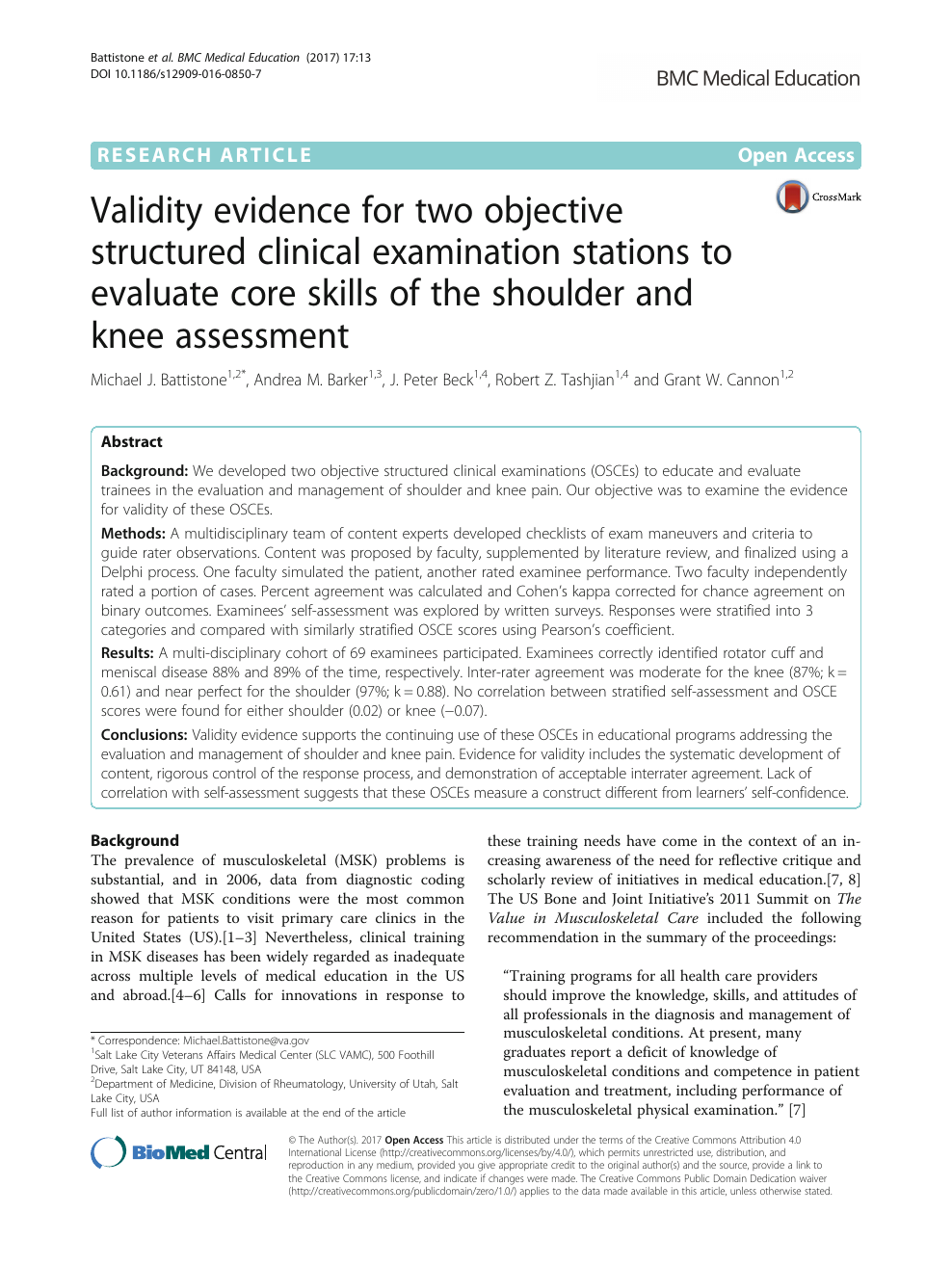 Validity evidence for two objective structured clinical