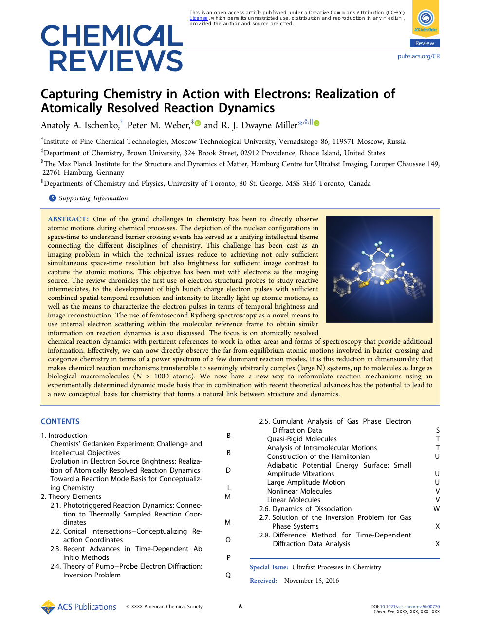 Capturing Chemistry in Action with Electrons: Realization of