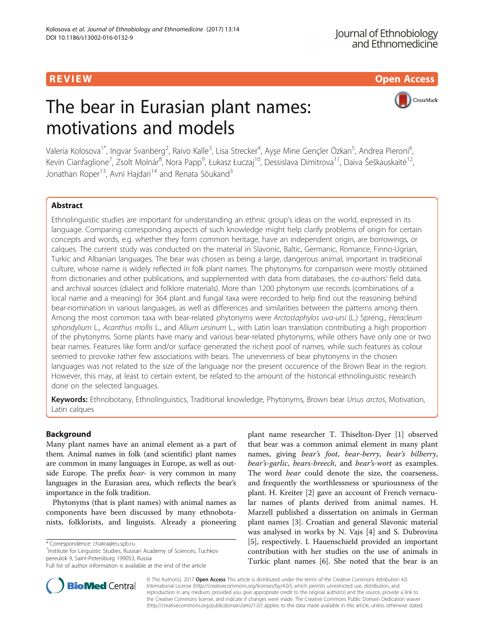 691f74fe988bb The bear in Eurasian plant names: motivations and models – topic of ...
