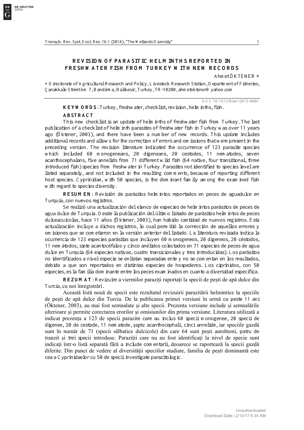 specii de cestoda platyhelminthes)