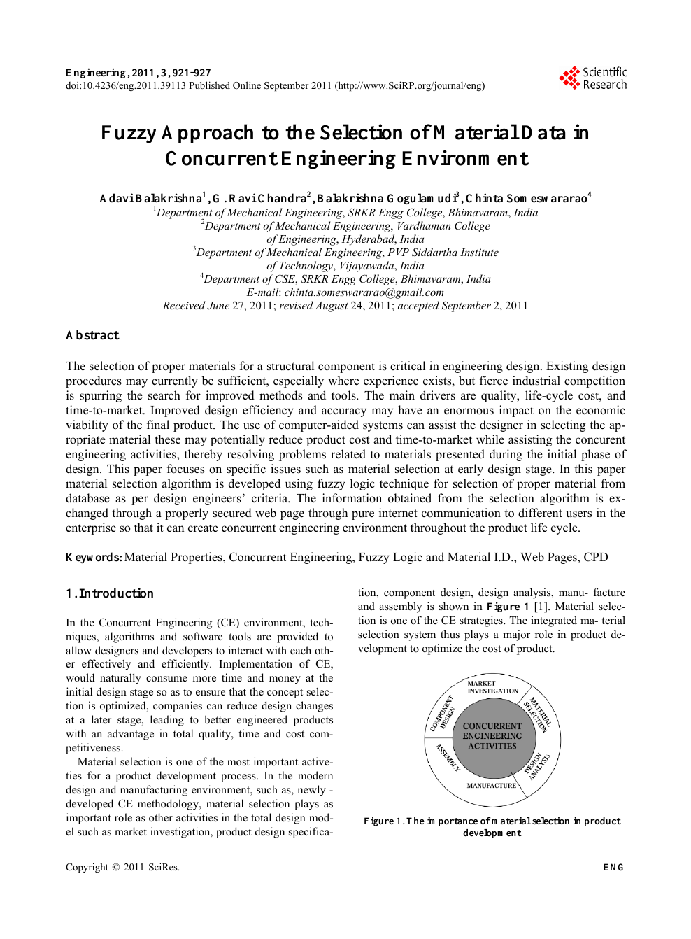 Fuzzy Approach To The Selection Of Material Data In Concurrent Engineering Environment Topic Of Research Paper In Materials Engineering Download Scholarly Article Pdf And Read For Free On Cyberleninka Open Science
