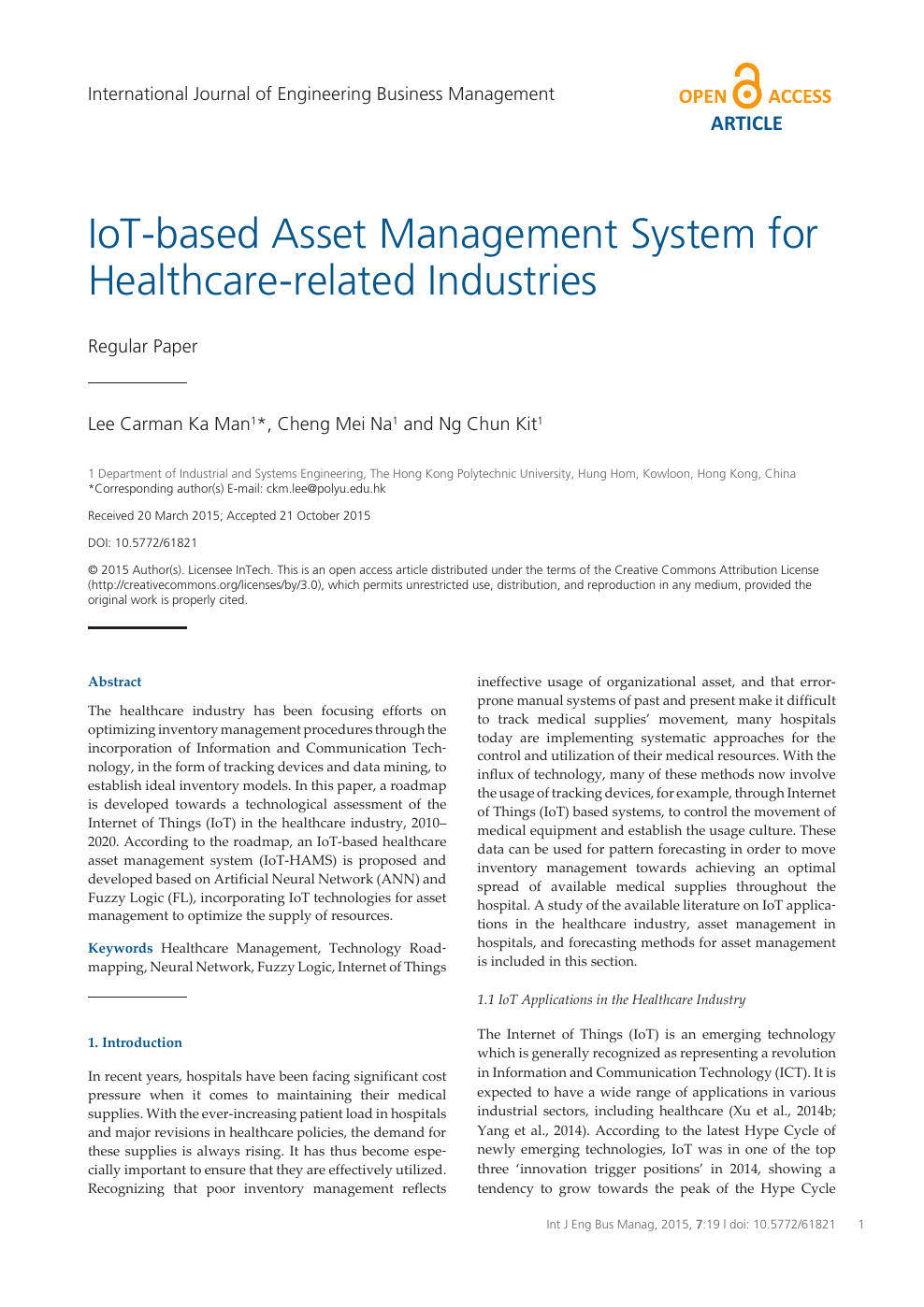 IoT-Based Asset Management System for Healthcare-Related