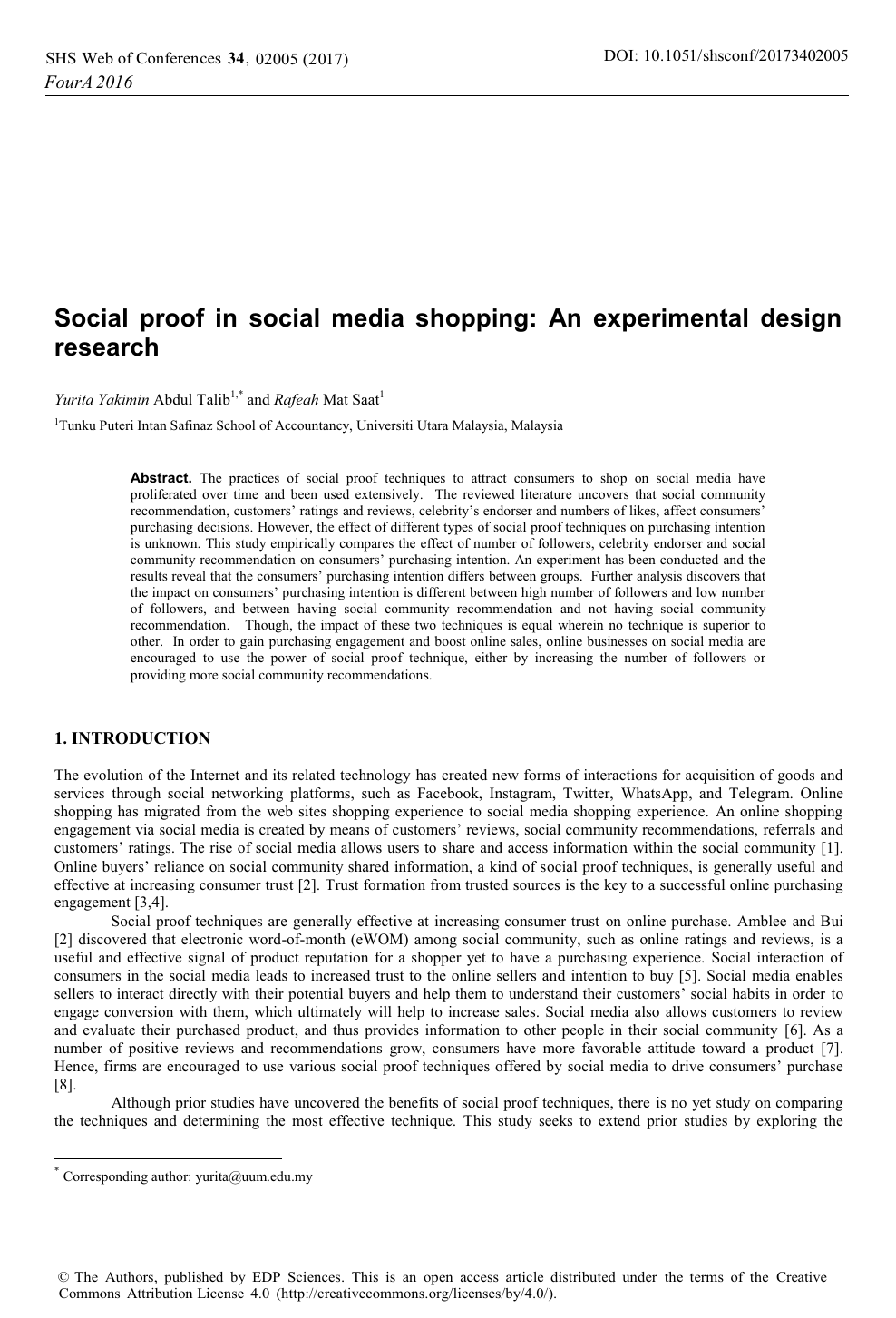 Social Proof In Social Media Shopping An Experimental Design Research Topic Of Research Paper In Economics And Business Download Scholarly Article Pdf And Read For Free On Cyberleninka Open Science Hub