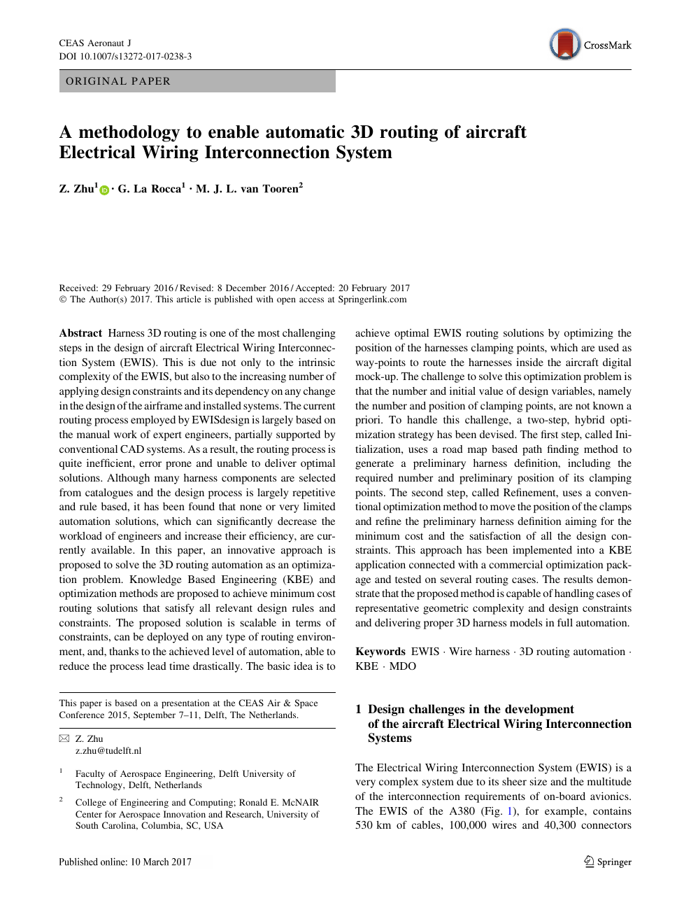 A methodology to enable automatic 3D routing of aircraft ... on aircraft cable size chart, aircraft wiring harness, aircraft electrical fuel pump,