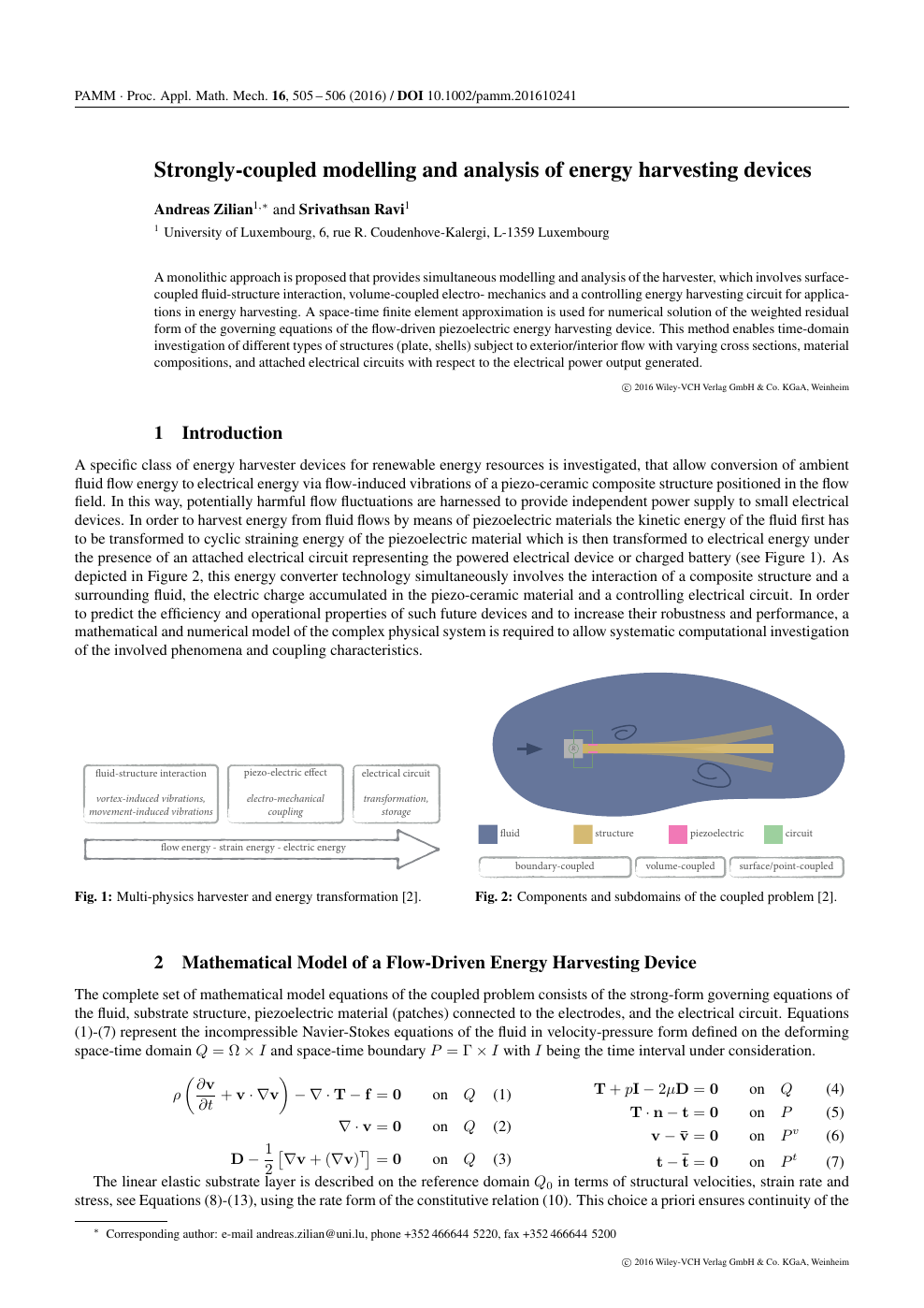 Strongly-coupled modelling and analysis of energy harvesting devices