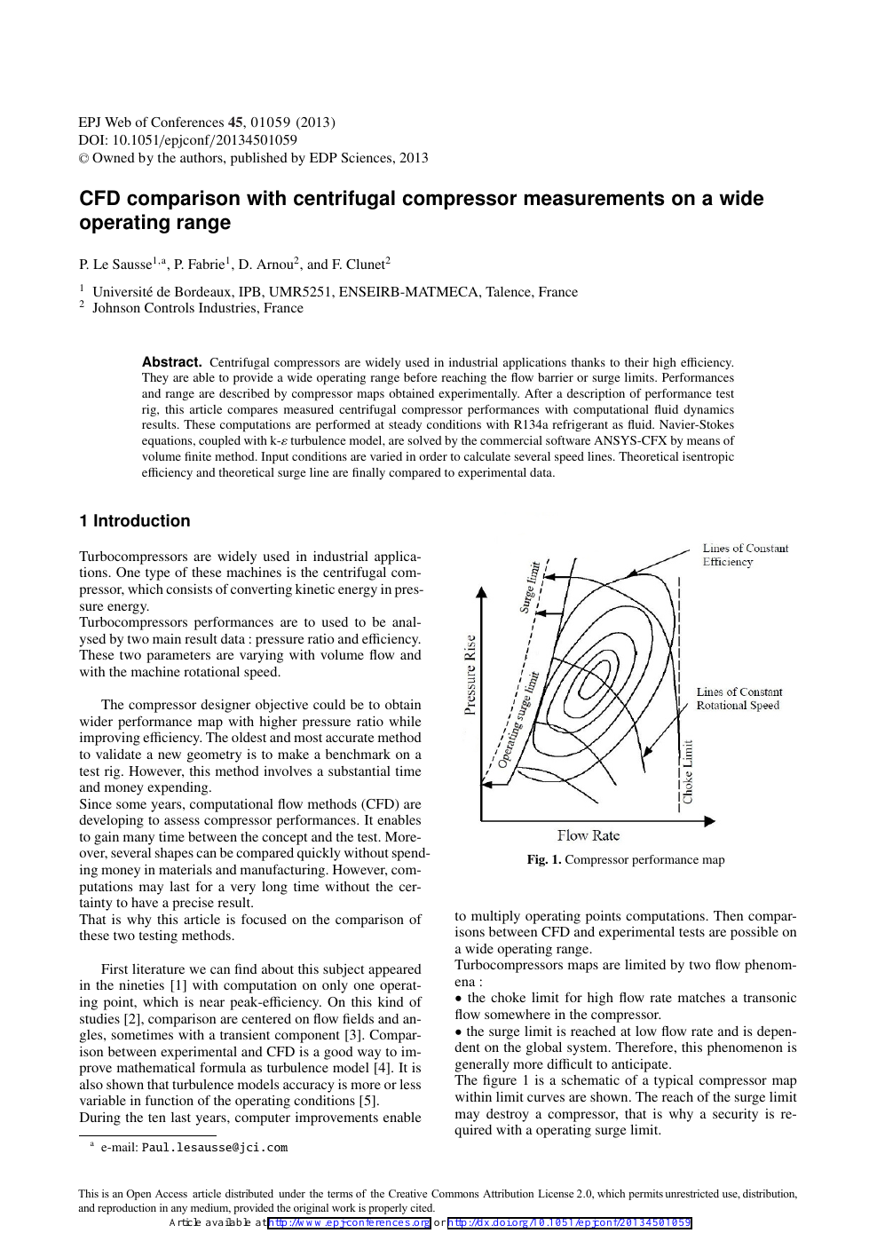 CFD comparison with centrifugal compressor measurements on a wide