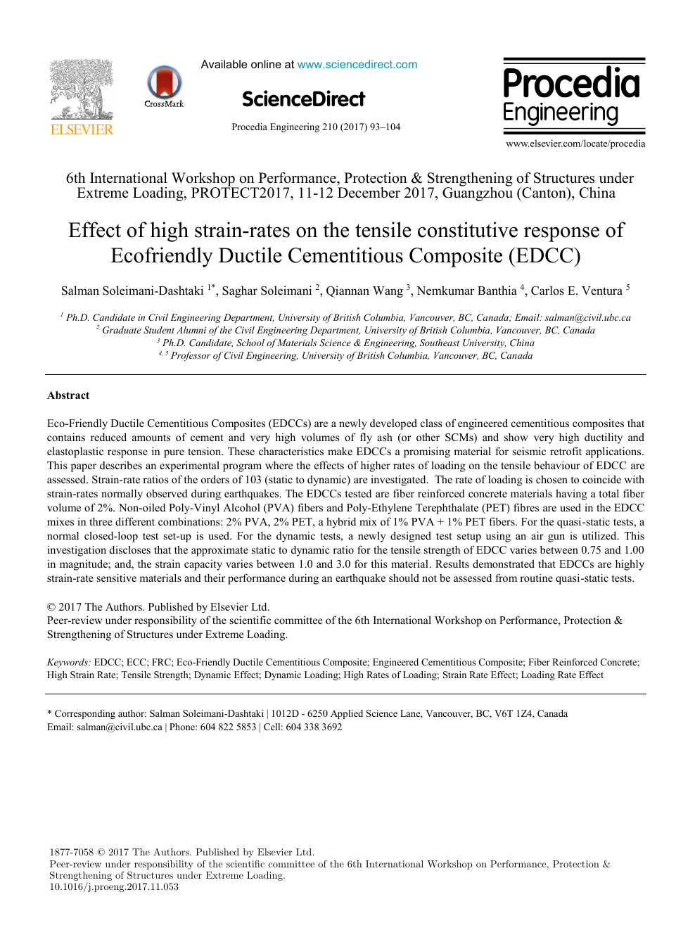 Effect of high strain-rates on the tensile constitutive