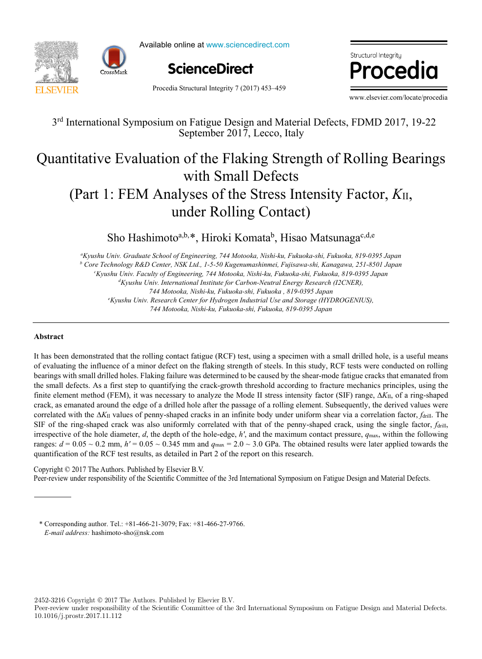 Quantitative Evaluation Of The Flaking Strength Of Rolling