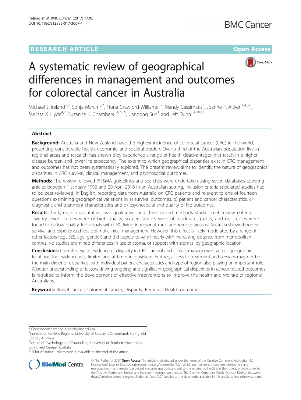 A systematic review of geographical differences in management and