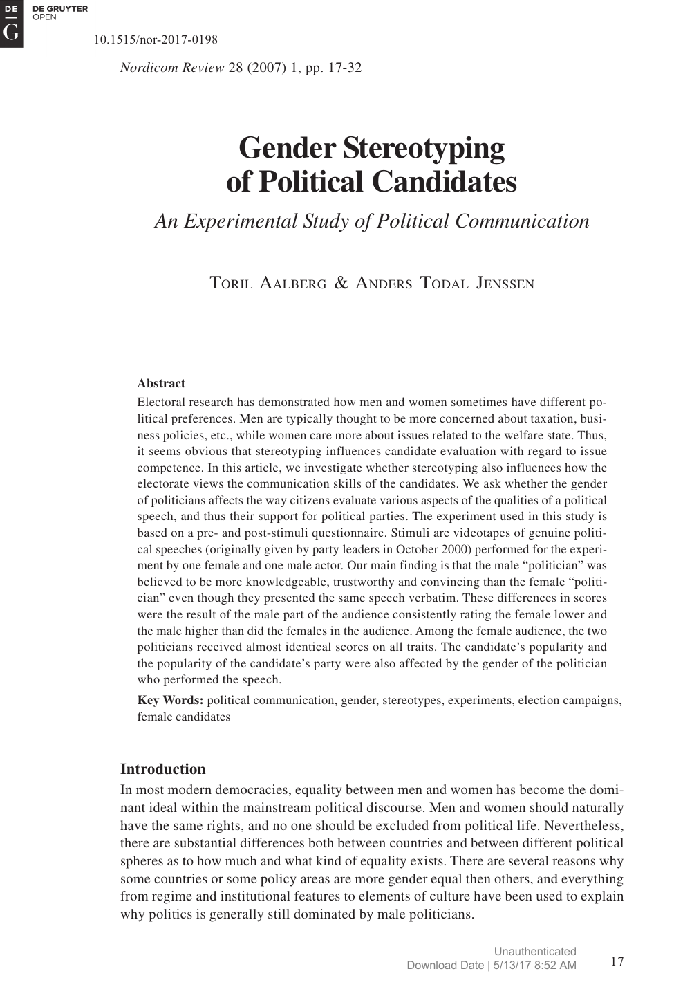 Political science research paper