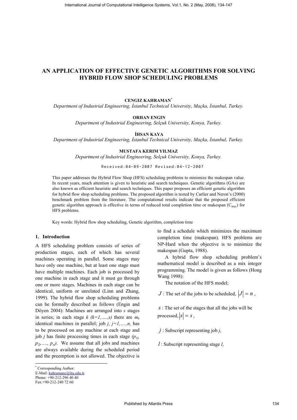 Genetic Algorithms in Applns. [appl. math]