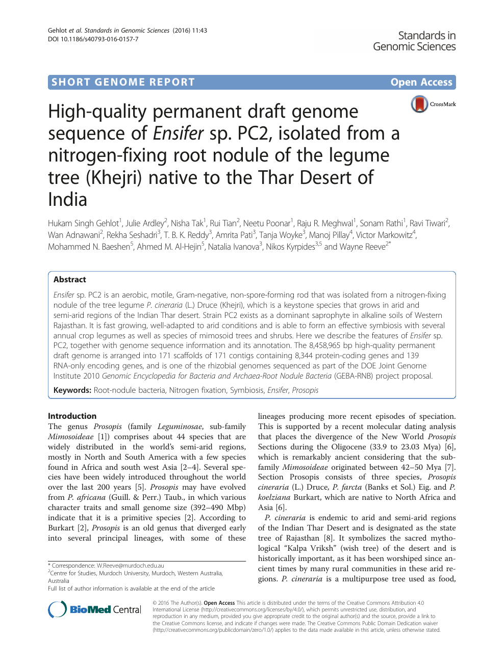 High-quality permanent draft genome sequence of Ensifer sp