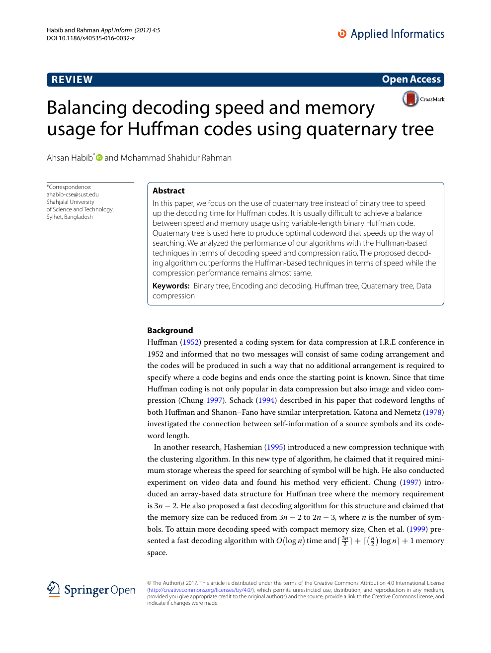 Balancing decoding speed and memory usage for Huffman codes