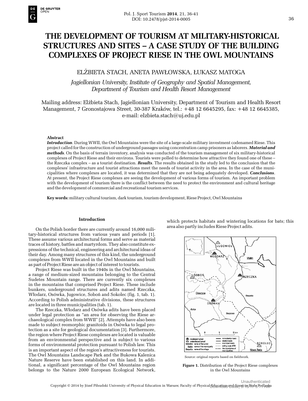 The Development of Tourism at Military-Historical Structures and