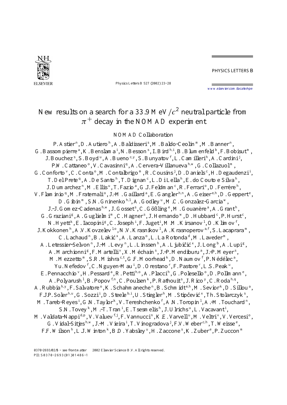 New results on a search for a 33 9 MeV/c2 neutral particle