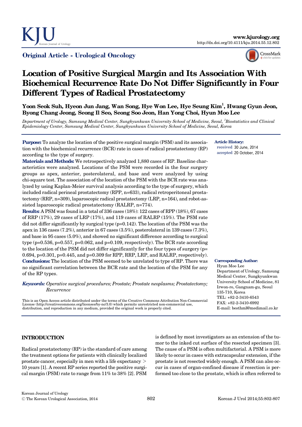 Location Of Positive Surgical Margin And Its Association With