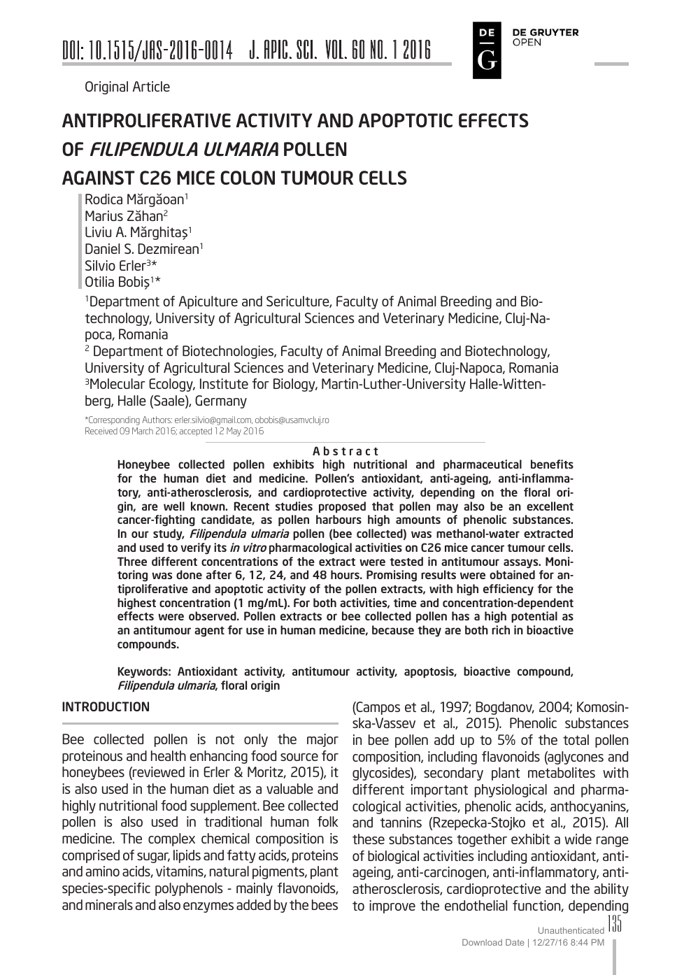 Antiproliferative activity and apoptotic effects of