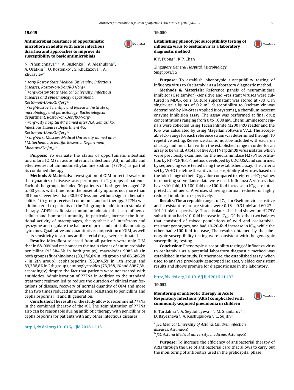 Monitoring of antibiotic therapy in Acute Respiratory Infections
