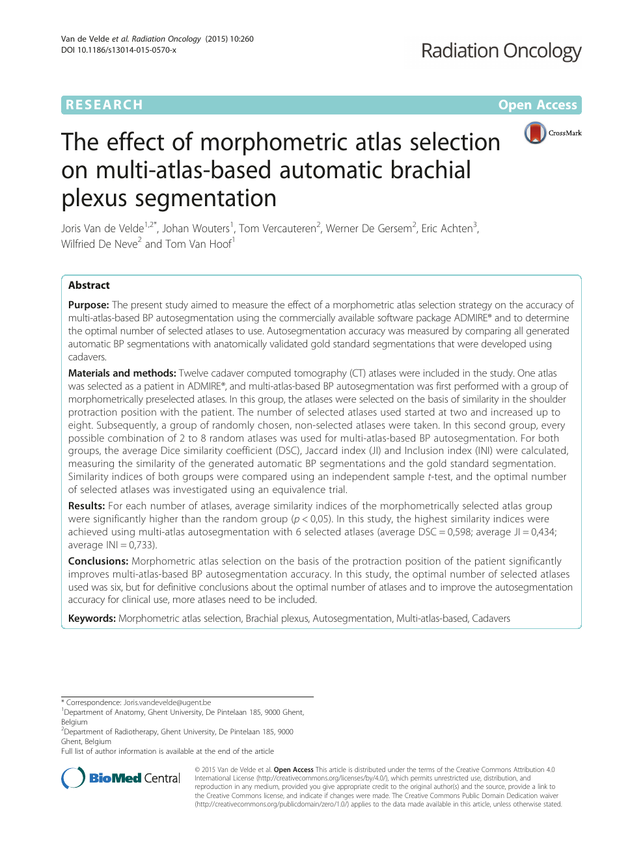 The effect of morphometric atlas selection on multi-atlas-based