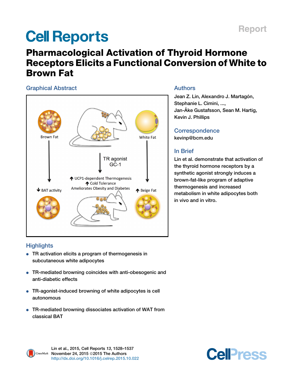 Pharmacological Activation of Thyroid Hormone Receptors