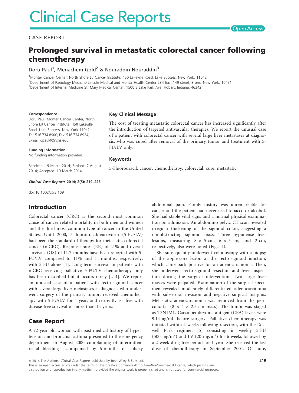Prolonged Survival In Metastatic Colorectal Cancer Following Chemotherapy Topic Of Research Paper In Clinical Medicine Download Scholarly Article Pdf And Read For Free On Cyberleninka Open Science Hub