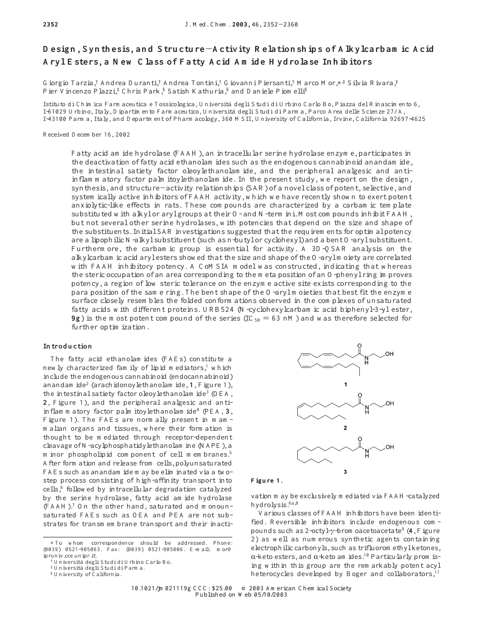 Design, Synthesis, and Structure−Activity Relationships of