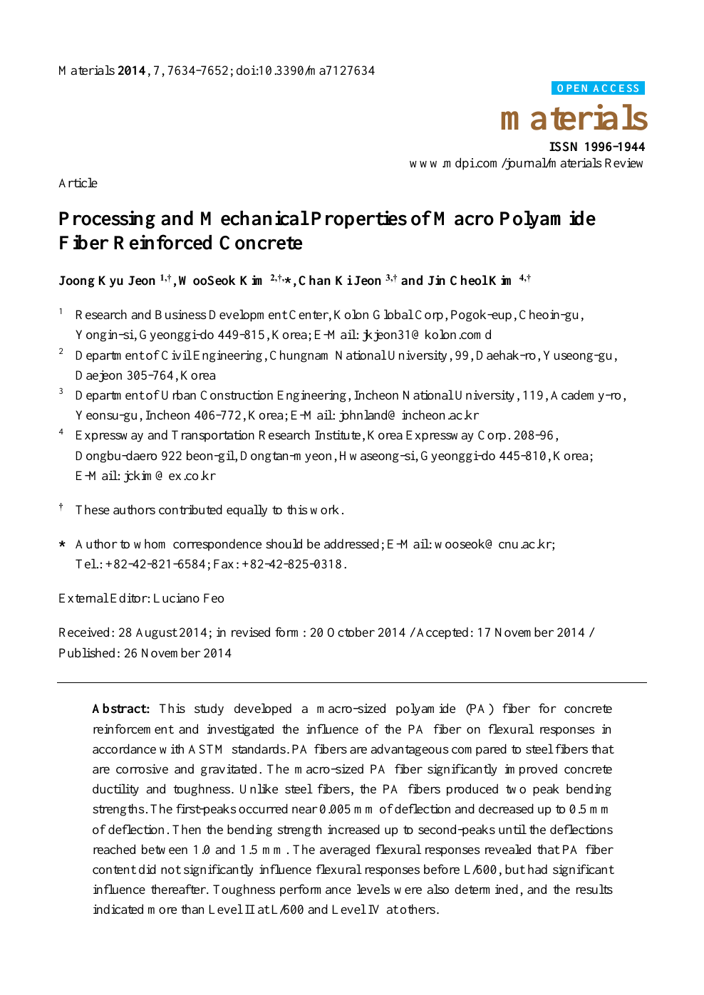 Processing and Mechanical Properties of Macro Polyamide