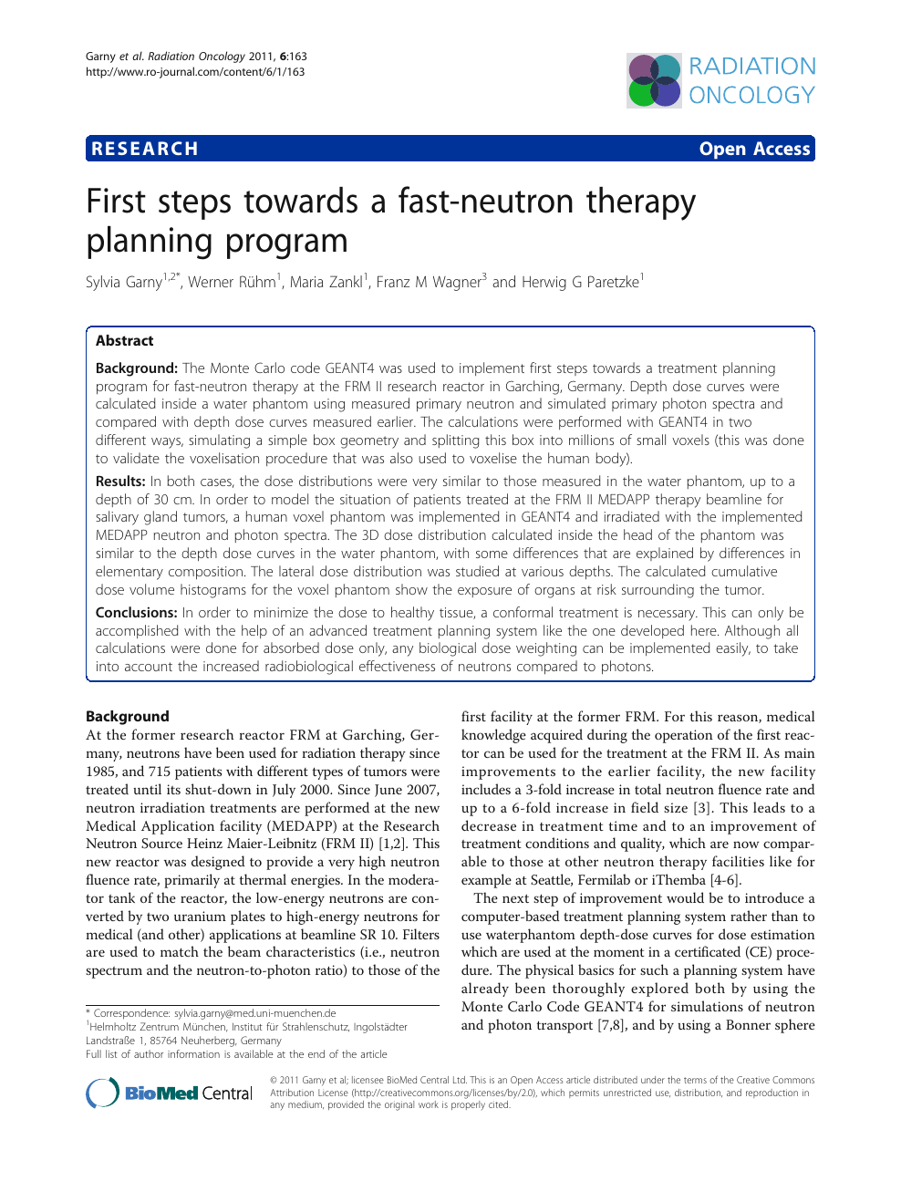 First steps towards a fast-neutron therapy planning program – topic