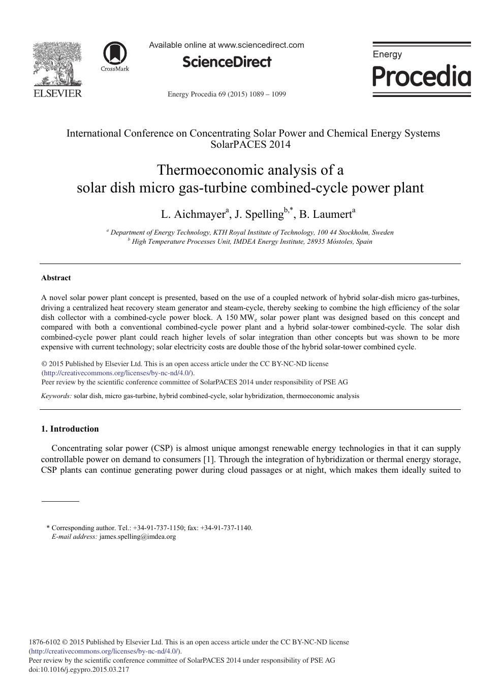 Thermoeconomic Analysis of a Solar Dish Micro Gas-turbine Combined