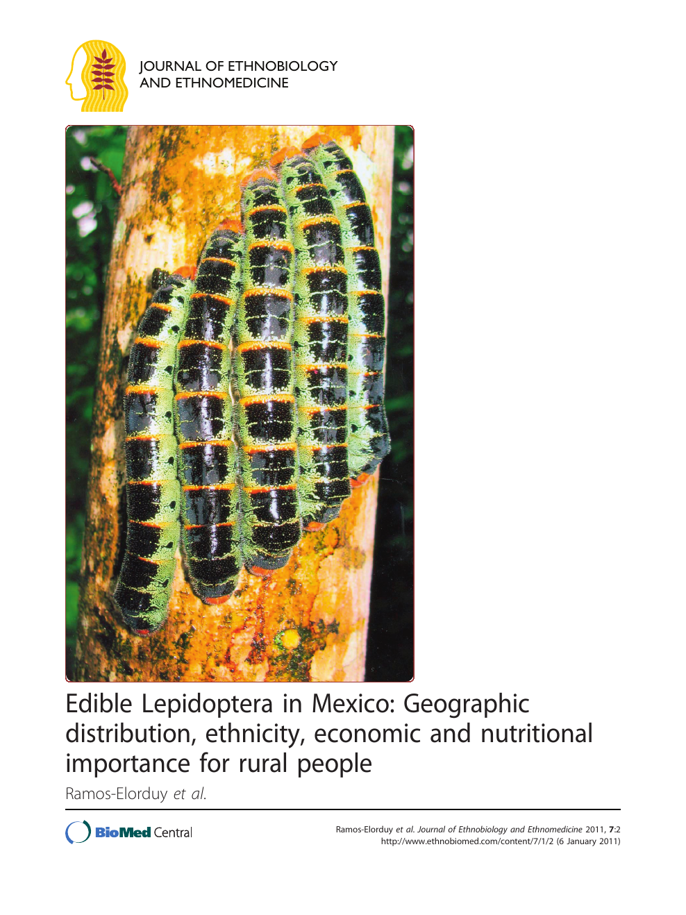 Edible Lepidoptera in Mexico: Geographic distribution, ethnicity