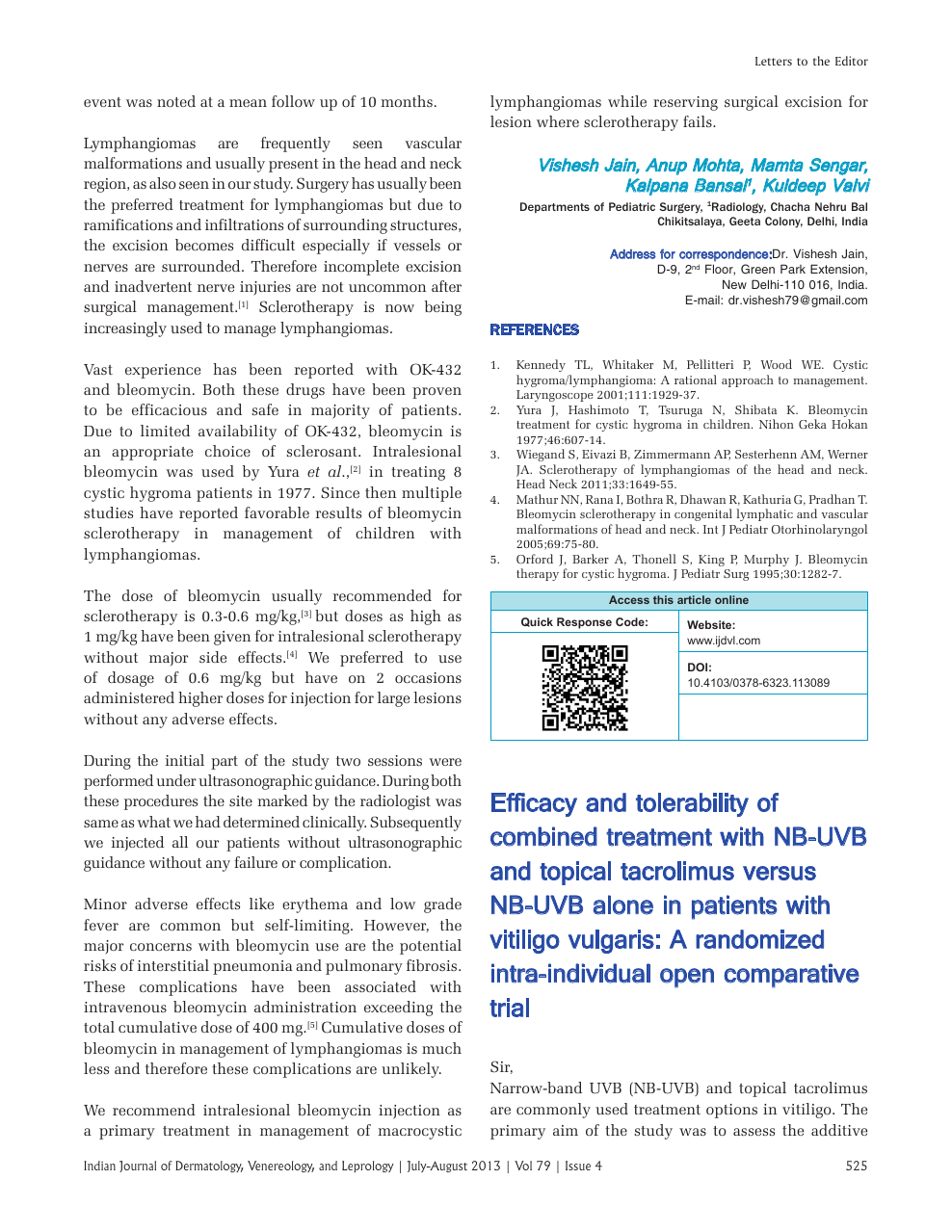Efficacy and tolerability of combined treatment with NB-UVB