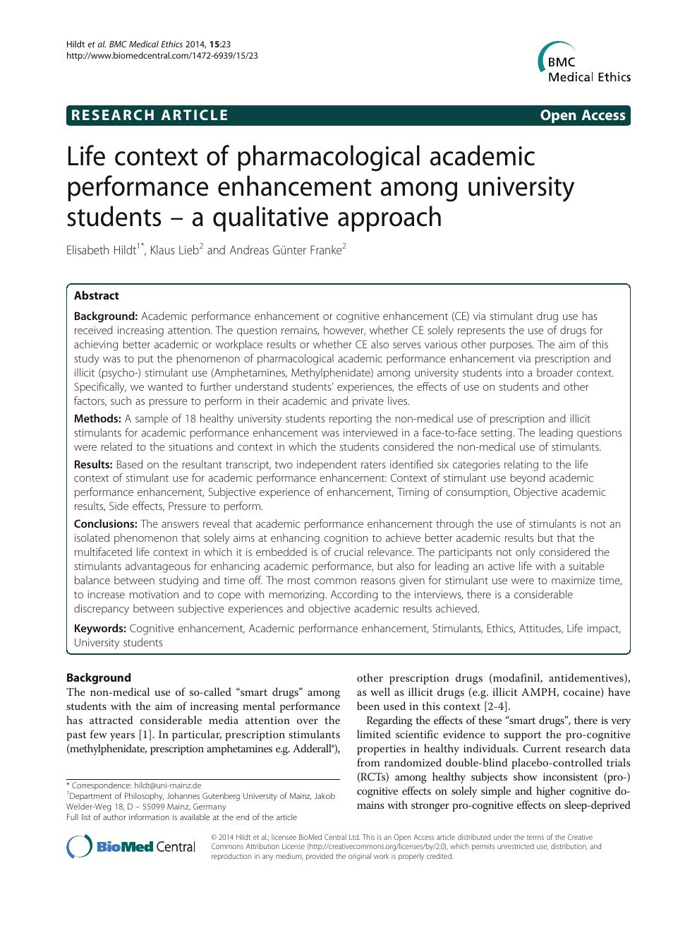 Life context of pharmacological academic performance