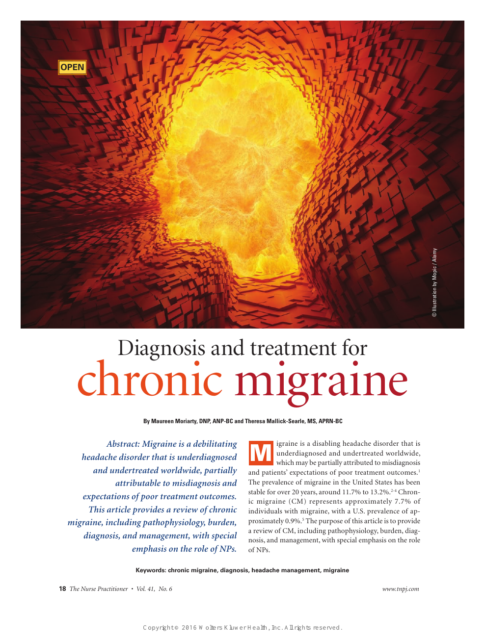 Diagnosis and treatment for chronic migraine – topic of