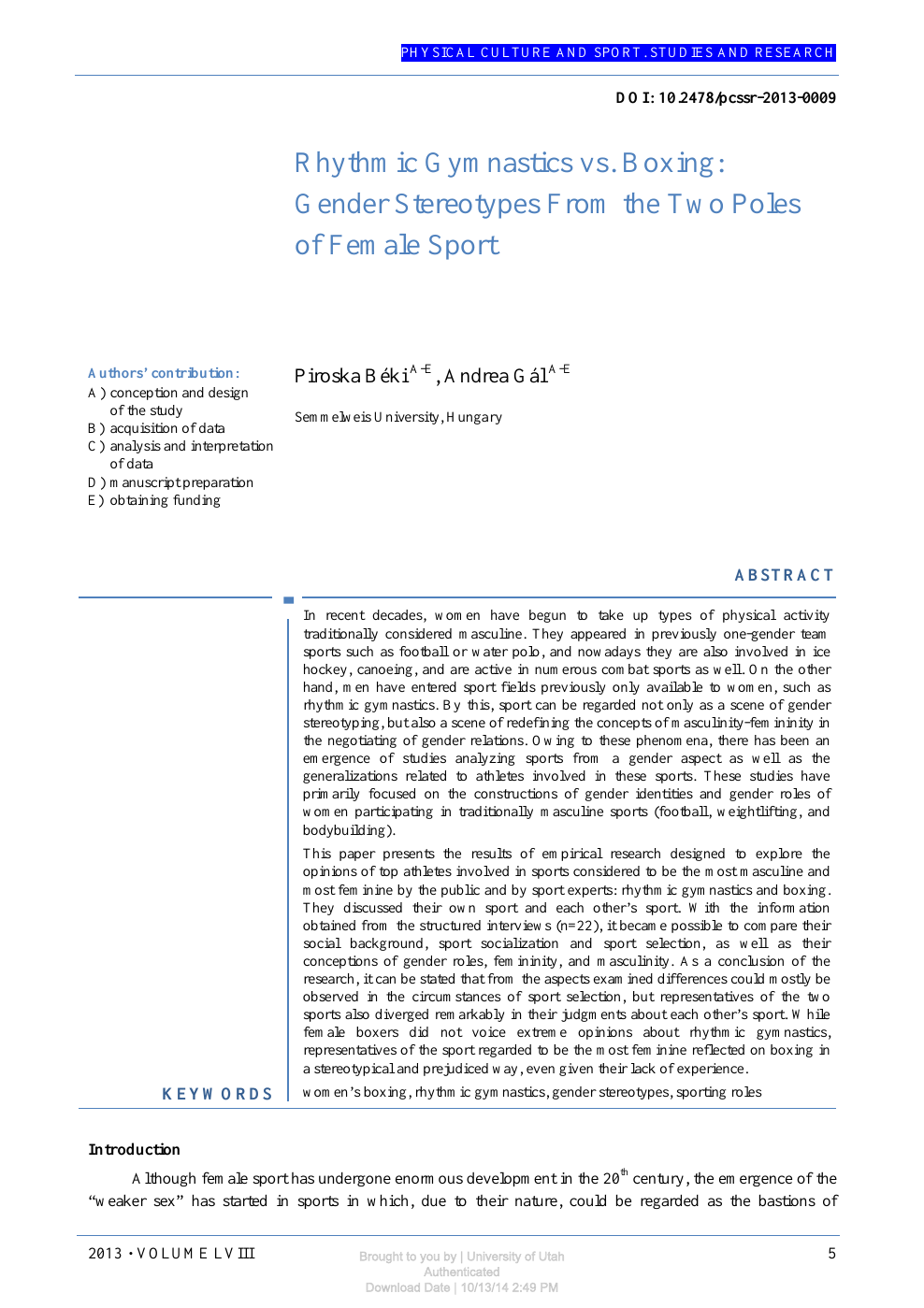 gender differences in sports