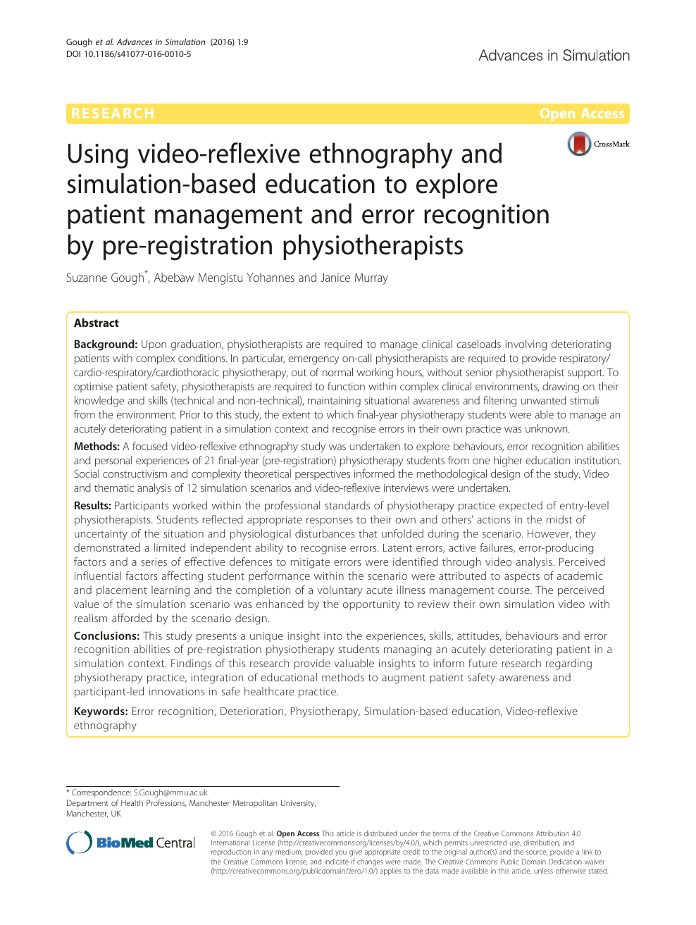 Using video-reflexive ethnography and simulation-based