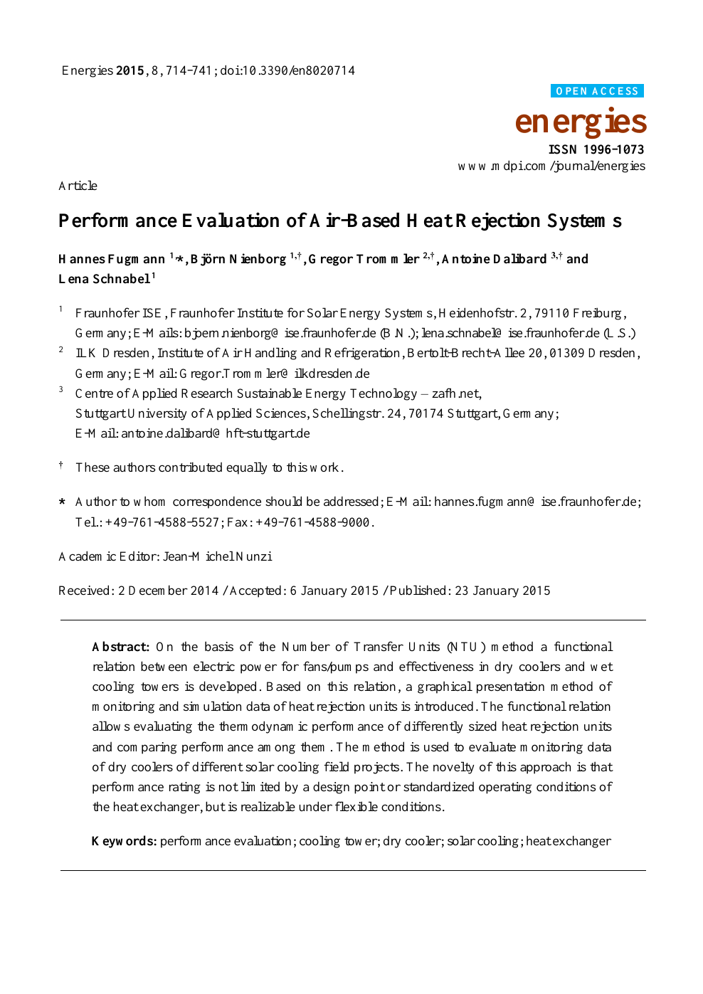 Performance Evaluation of Air-Based Heat Rejection Systems – topic