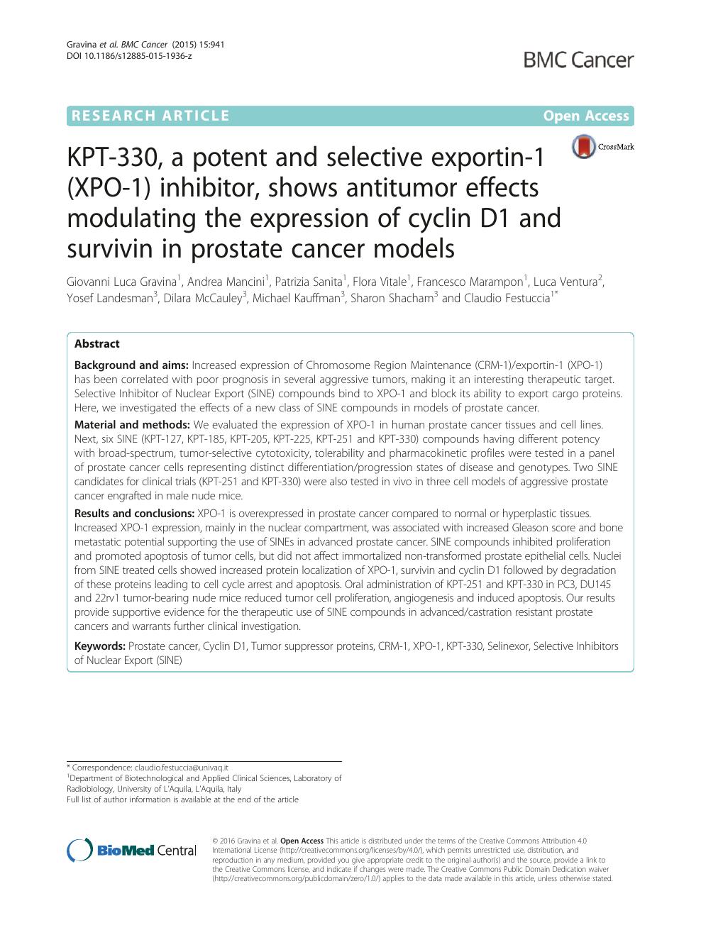 test dna tumore prostata bologna results