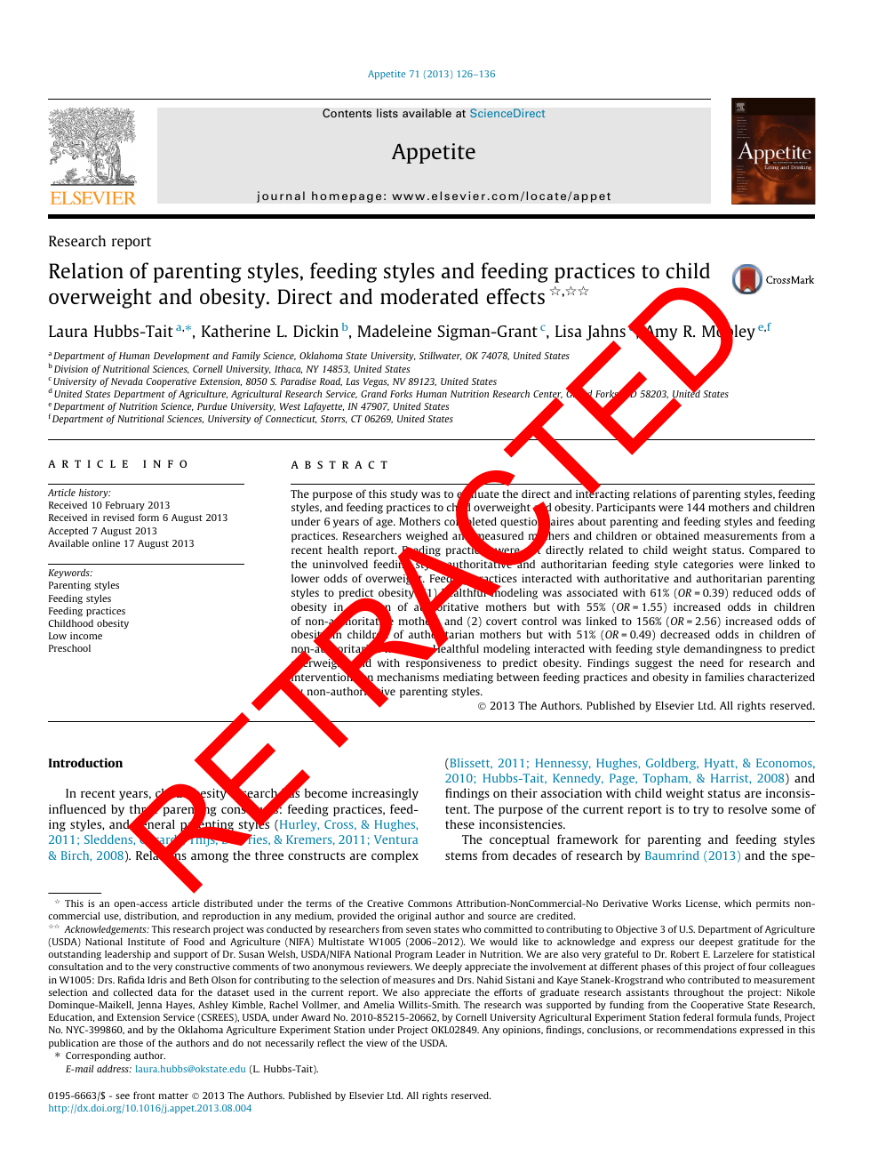 Why Parenting Styles Matter When >> Retracted Relation Of Parenting Styles Feeding Styles And Feeding