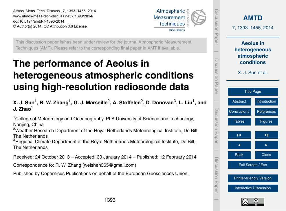 The performance of Aeolus in heterogeneous atmospheric