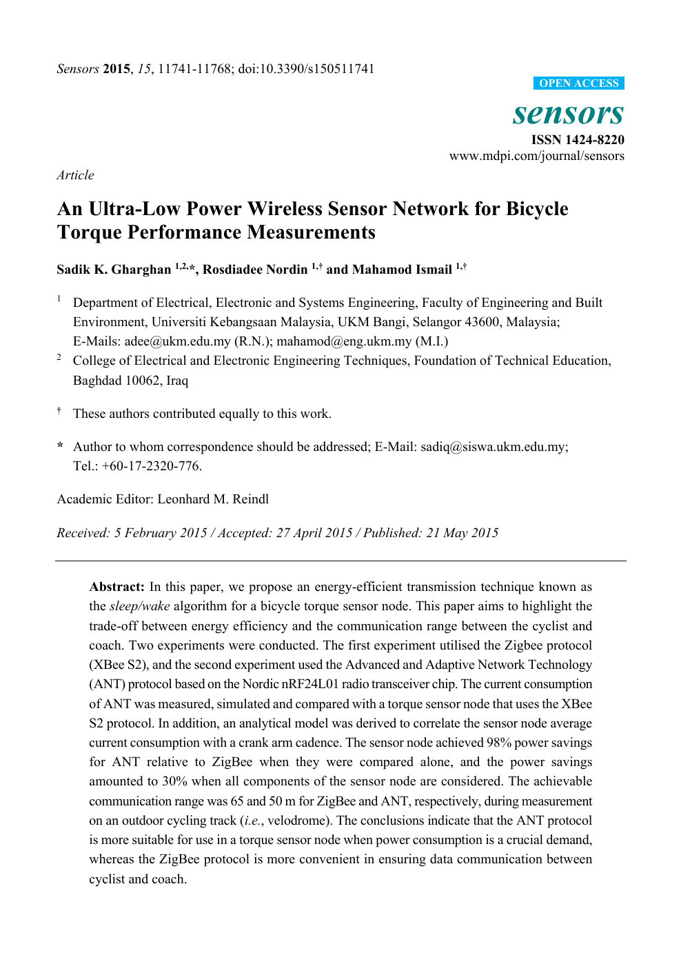 257ccae43d5 An Ultra-Low Power Wireless Sensor Network for Bicycle Torque ...