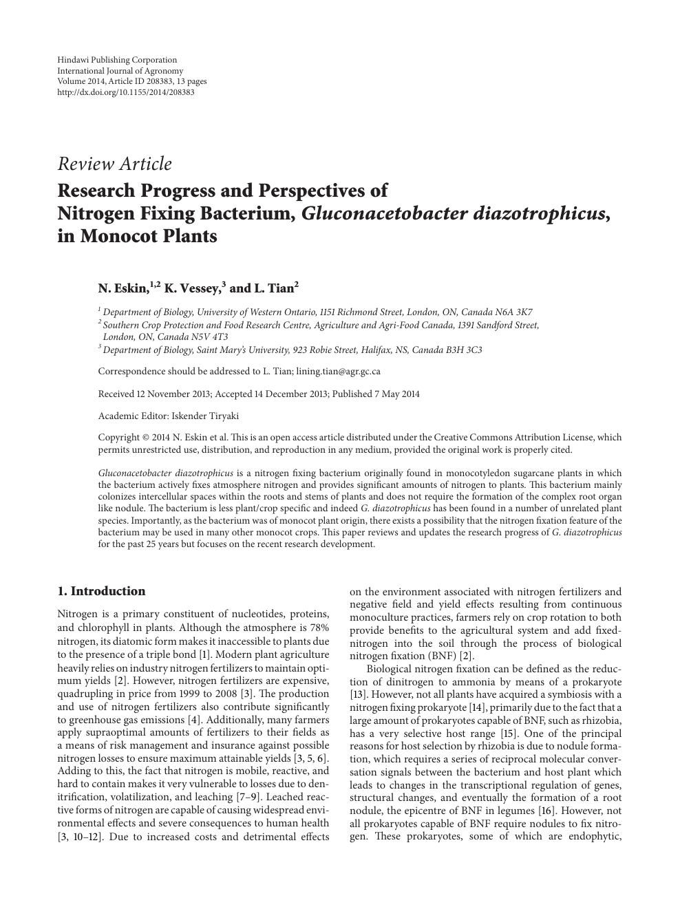 Research papers about nitrogen thesis bachelor schreiben