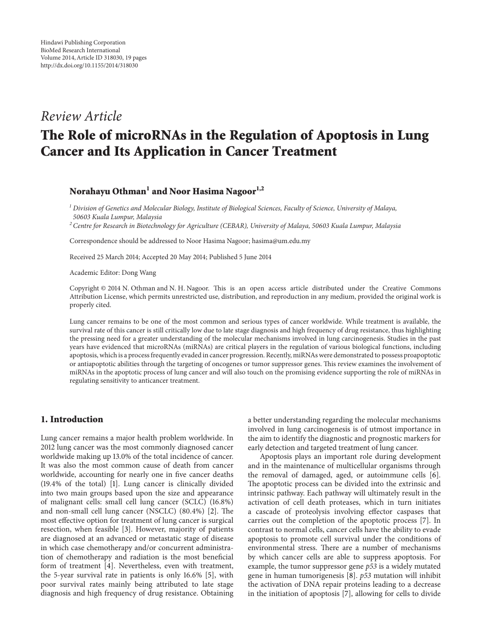 research paper about cancer