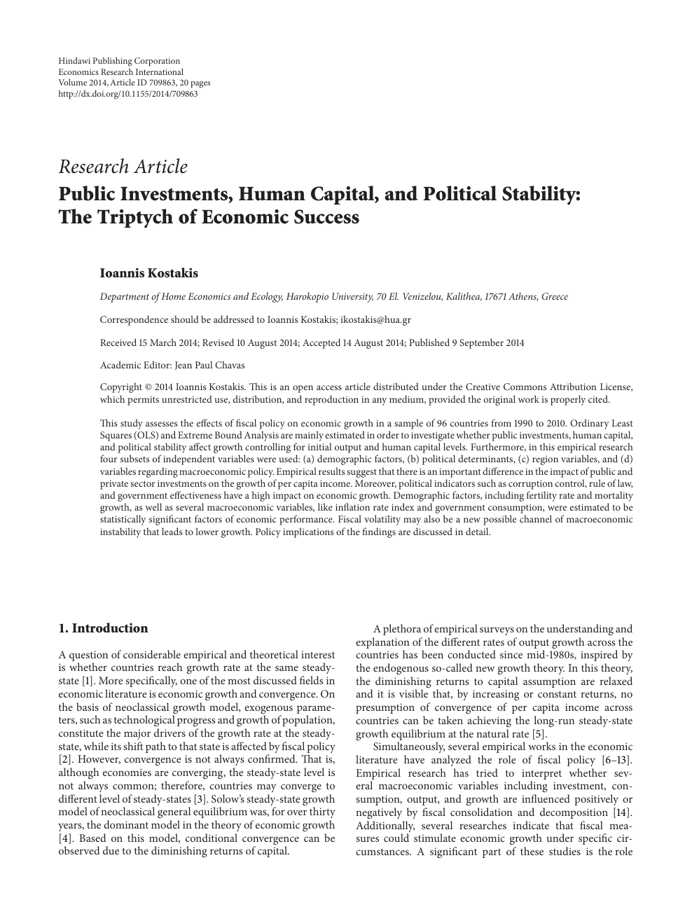 Public Investments Human Capital And Political Stability The Triptych Of Economic Success Topic Of Research Paper In Economics And Business Download Scholarly Article Pdf And Read For Free On Cyberleninka Open